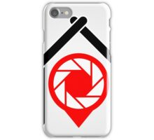 A placement with aperture sign inside a house iPhone Case/Skin