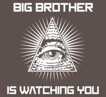 Big Brother Is Watching You Illuminati Eye T Shirt One Piece - Short Sleeve