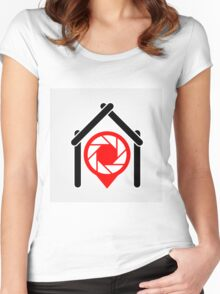 A placement with aperture sign inside a house Women's Fitted Scoop T-Shirt