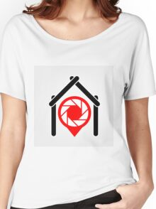 A placement with aperture sign inside a house Women's Relaxed Fit T-Shirt