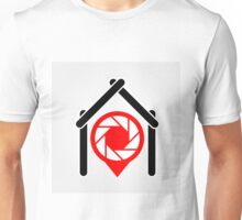 A placement with aperture sign inside a house Unisex T-Shirt