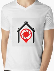 A placement with aperture sign inside a house Mens V-Neck T-Shirt