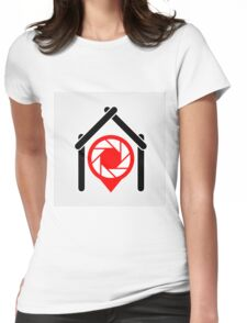 A placement with aperture sign inside a house Womens Fitted T-Shirt