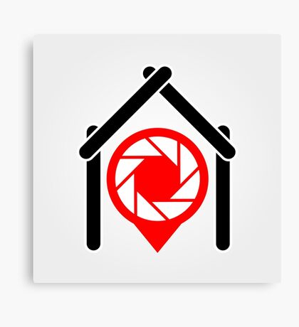 A placement with aperture sign inside a house Canvas Print