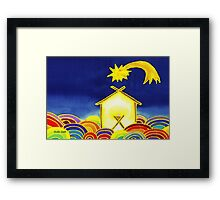 Christ is Born Framed Print