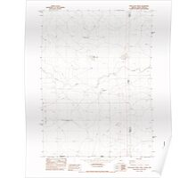 USGS Topo Map Oregon Star Valley Knoll 281626 1982 24000 Poster