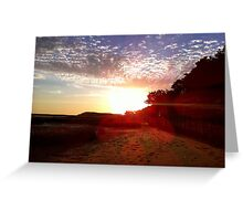 Pleasant Point Landing Sunset Greeting Card