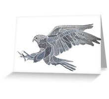 Black eagle hawk American Army US patriotism Greeting Card