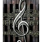 Music Notes iPhone case by tapiona