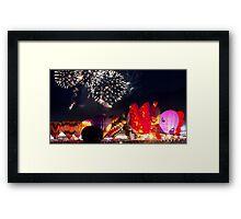 After Glow™ Fireworks Show Framed Print