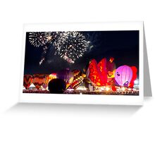 After Glow™ Fireworks Show Greeting Card