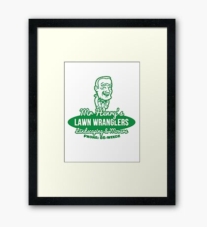 Bottle Rocket Lawn Wranglers  Framed Print