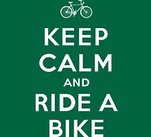 Keep Calm and Ride a Bike Unisex T-Shirt