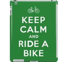 Keep Calm and Ride a Bike iPad Case/Skin