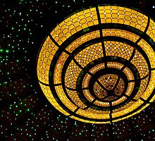 Overhead Light Fixture on Cruise Ship by Gerda Grice