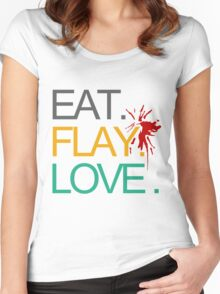 Eat. Flay. Love. Women's Fitted Scoop T-Shirt