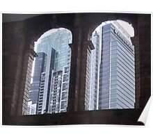 Arched Skyscrapers Poster
