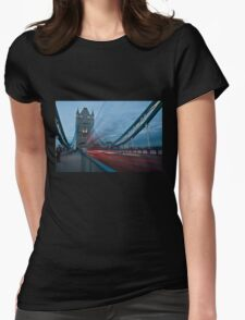 London Tower Bridge Womens Fitted T-Shirt