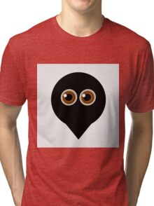 A placement with cute ghost having hazel eyes  Tri-blend T-Shirt