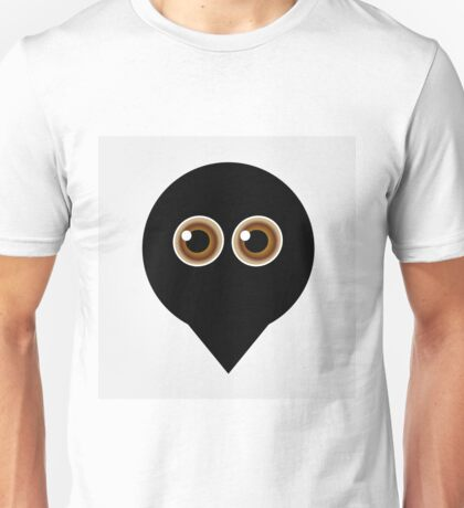 A placement with cute ghost having hazel eyes  Unisex T-Shirt