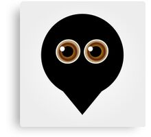 A placement with cute ghost having hazel eyes  Canvas Print