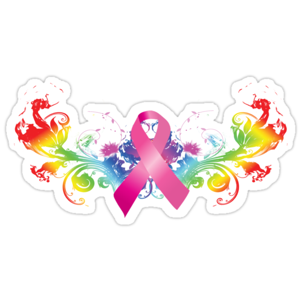 Breast Cancer Awareness Rainbow by TowlerArt