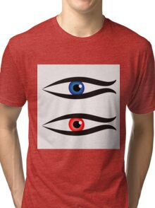 Abstract fish with large eyeball inside  Tri-blend T-Shirt