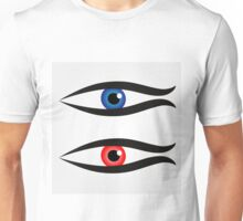 Abstract fish with large eyeball inside  Unisex T-Shirt