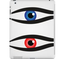 Abstract fish with large eyeball inside  iPad Case/Skin