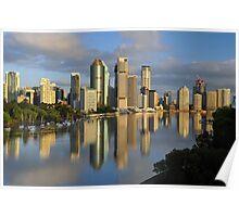 Brisbane City & River at dawn. Queensland, Australia.  Poster