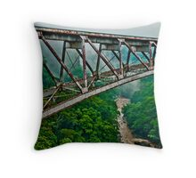 Rusty Bridge over Troubled Waters Throw Pillow