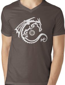 Dragon and Stone (for dark t-shirts) Mens V-Neck T-Shirt