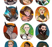 DRAGON AGE INQUISITION sticker set by Ohrwurm