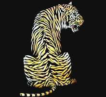 roaring tiger lion back strength Unisex T-Shirt