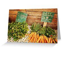Cilantro & Carrots Greeting Card