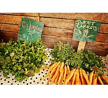 Cilantro & Carrots Photographic Print