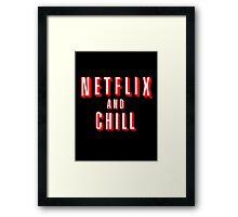 Netflix logo Black Framed Print