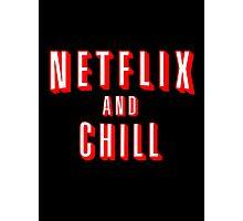 Netflix logo Black Photographic Print