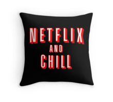 Netflix logo Black Throw Pillow