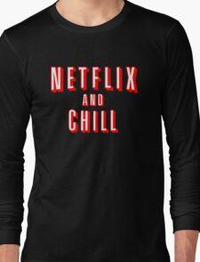 Netflix logo Black Long Sleeve T-Shirt