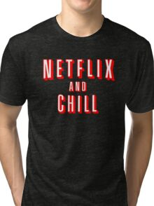 Netflix logo Black Tri-blend T-Shirt