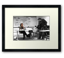 Dude. You are not getting the last cupcake. Framed Print