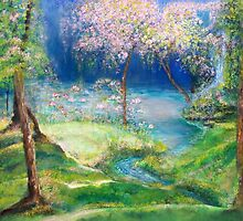Dreamscape - Cherry Blossom Trees  by shaina