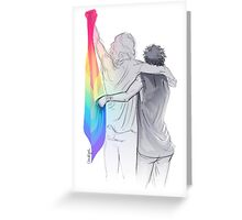 The Rainbow Flag: 'I would if I could… not yet, but soon.' Greeting Card