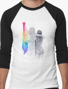 The Rainbow Flag: 'I would if I could… not yet, but soon.' Men's Baseball ¾ T-Shirt