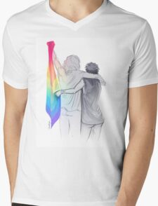 The Rainbow Flag: 'I would if I could… not yet, but soon.' Mens V-Neck T-Shirt