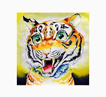 Smiling roaring tiger cute Unisex T-Shirt