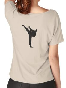 Karate Kick Big Women's Relaxed Fit T-Shirt