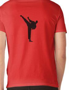 Karate Kick Big Mens V-Neck T-Shirt