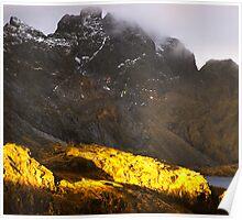 Mountains, Lofoten Islands, Norway Poster